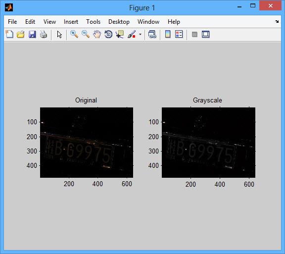 پروژه تشخیص پلاک خودرو در شب با نرم افزار MATLAB