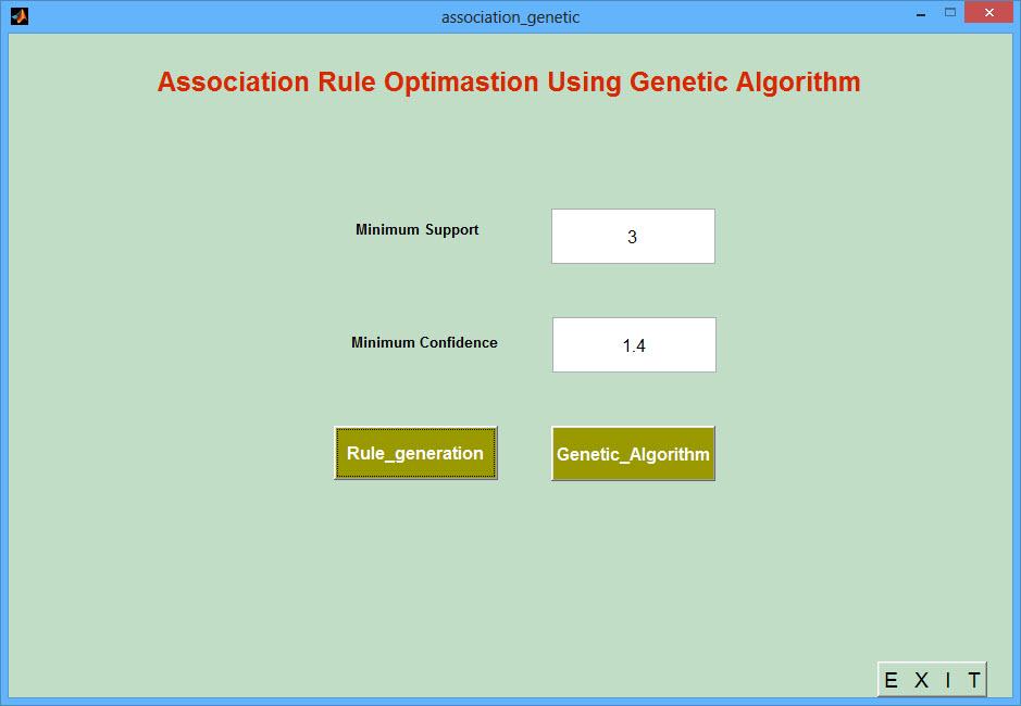 پروژه یادگیری قانون وابستگی با الگوریتم ژنتیک با نرم افزار MATLAB (پروژه پایگاه داده کامپیوتر):انجام پروژه متلب