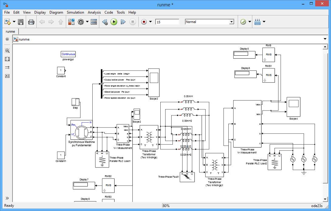 پروژه تجزيه تحليل پايداری SMIB با نرم افزار MATLAB یا Single machine Infinite Bus: پروژهمتلب ارزان